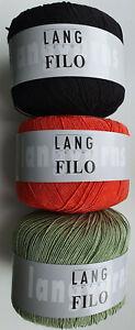 LANG Yarns Filo,Wollpaket (550 g./11 Knäuel)Farben siehe Beschreibung