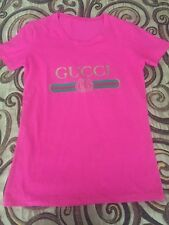 Made in Italy Used Pink Gucci T-Shirt - Size M