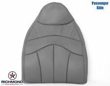 99-00 Ford F-150 Lariat 4X4 2WD-Passenger Side Lean Back Leather Seat Cover GRAY