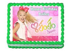 JoJo Siwa party edible cake image cake topper frosting sheet decoration