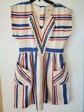 NWOT Lauren Moffatt striped embellished dress size 4