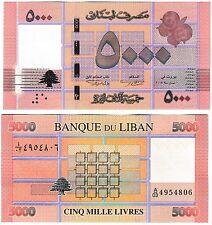 Lebanon 5000 livres 2014 P-91b UNC