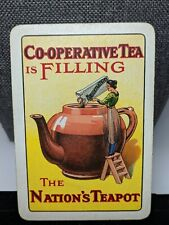 Co-operative Tea Nation's Teapot Antique Playing Card Wide Single Collection Brk