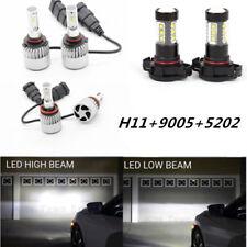 9005 H11 5202 LED Headlight + Fog Light for 2007-2013 GMC Sierra 1500 2500 3500