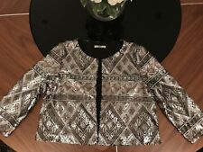 Christmas Party Jacket - Oasis Aztec Sequinned Cropped Jacket - Medium
