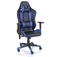 TRESKO® Sedia da ufficio Poltrona ufficio Versione Racer Racing Gaming Blu