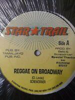 "Screwdriver-Reggae On Broadway 12"" Vinyl Single REGGAE DANCEHALL"