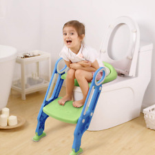New listing Potty Seat with Step Stool Toddler Toilet Seat for Kids Children Adjustable Trai