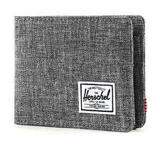 Herschel Roy Plus Coin RFID Wallet Geldbörse Raven Crosshatch Grau Neu