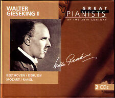 Walter GIESEKING 2: GREAT PIANISTS OF THE 20TH CENTURY 2CD Beethoven Debussy
