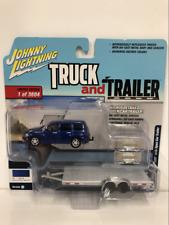 2006 Chevy HHR with Open Car Trailer 1:64 Scale JLBT008A Blue