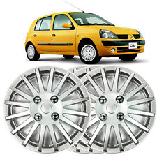 "4 X 13"" solid silver Renault Clio wheel trim Cover 1991 to 2005"