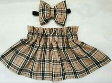 Baby's Skirt and Headwrap Tartan print New