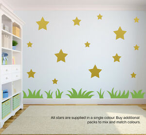 32 chunky STAR wall stickers   wall decals   window stickers   peel and stick!