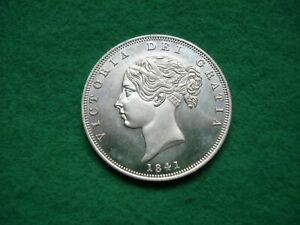 Victoria 1841 Young Head Half Crown Filler coin (not genuine) FREEPOST