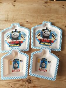 Thomas The Tank Engine Train Toddler Plate And Bowl Sets X 2 Bundle