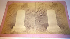 Antique Western Tombstone / Grave Site C.1860's Death & Mourning Stereoview! Old