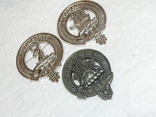 VTG Lot of 3 Kilt Skirt Pin Brooch Scottish Clan Disce Pati Je Suis Prest Pewter