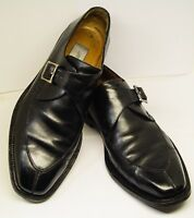 MEZLAN MADE IN ITALY SZ 9.5 CORATO Black Leather Dress Shoe GOOD USED CONDITION