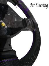 FOR TOYOTA PRADO 2002-2009 NEW PERFORATED LEATHER STEERING WHEEL COVER PURPLE ST