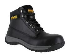 DeWalt Apprentice Mens SB Black Leather Safety Steel Toe Lace Up Boots