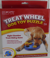 TREAT WHEEL - Dog Toy Puzzle (Eight Chamber Treat-Hiding Game (New) (DG40114)