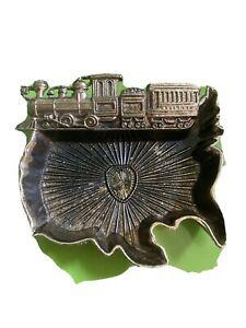 Train United States vintsge ashtray small 4 inch * 3 inch