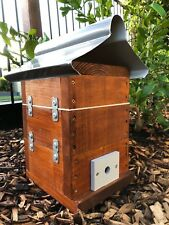 Stingless Native Bee Hive Honey Pot Design With Roof | Stained | Mini OATH Hive