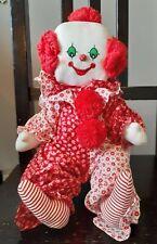 "Vintage 1981 Katy Bek Kreations Plush Clown Doll Tagged 14"" Tall"