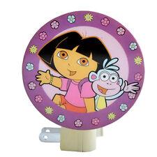 Dora The Explorer & Boots Kids Girls Bedroom NIGHT LIGHT Lamp Nickelodeon NEW