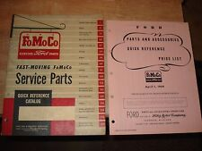 1952-1959 FORD FAST MOVING PARTS CATALOG ORIGINAL FOMOCO NUMBERS BOOK !