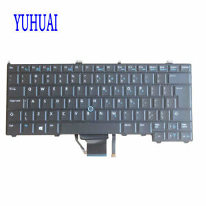 98%NEW FOR Dell Latitude 12 12-7000 E7440 E7240 Backlit Pointer UI Keyboard