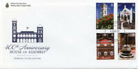Bermuda Architecture Stamps 2020 FDC Parliament 400th Anniv Flags 4v Set