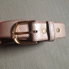 YVES SAINT LAURENT YSL KARUNG SNAKE ON GLOVE LEATHER 36/90  BELT