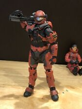 Mcfarlane Halo 3 Reach Video Game Action Figure Red Spartan Military Police Ar