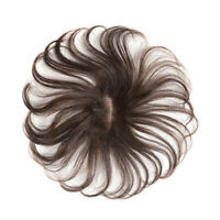 Base 5*8cm 100% Human Hair Mono Topper Hairpiece Top Piece Straight Cover Gray