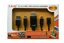 KIT Cable MHL a HDMI para SAMSUNG GALAXY S2 S3 S4 S5 NOTE 2 3 MULTIMEDIA HD