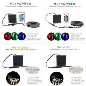 LED Strip Battery Operated Dimmable Waterproof RGB 5V SMD 5050 RF Remote Control