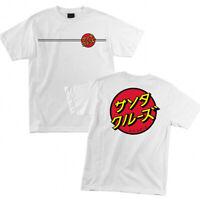 Santa Cruz Japanese Classic Dot T Shirt Tee Skateboard White New Size M L XL XXL