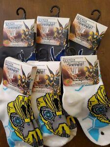 Transformers BUMBLEBEE Black Little Kids Socks 4-5.5 Boy  Girl Shoe Size 1-5