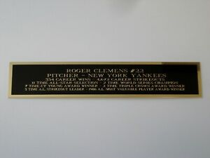 Roger Clemens Yankees Autograph Nameplate For A Baseball Jersey Case 1.25 X 6