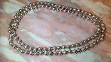 """VINTAGE TAXCO MEXICO STERLING SILVER BEAD NECKLACE 37"""" STUNNING HEAVY"""
