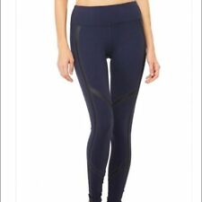 Alo Yoga TALIA Leggings Rich Navy Glossy Black Women Size M New