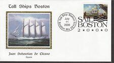 KAPPYSSTAMPS 5814 USA BOSTON TALL SHIPS SAIL IN 2000 JUAN SEBASTIAN DE ELCANO