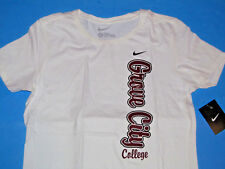 NIKE Grove City College T-Shirt Women Sz L Large Slim Fit White Willie NWT