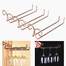 1*useful Stainless Steel Bronze Wine Glass Rack Stemware Hanging Shelf Holder SN