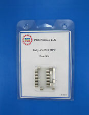 1979 Bally Supersonic Pinball Machine Fuse Kit - Bally AS-2518 (10 fuses)