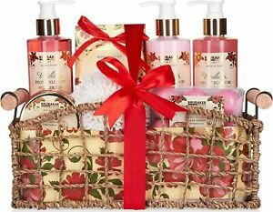 Ladies Women 13-Pcs. Bath Gift Set 'Vanilla & Poeny Blossom' Spa Collection