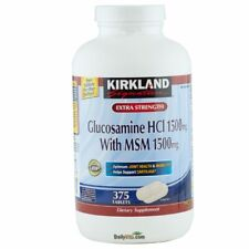Kirkland Signature Glucosamine HCI MSM 1500 mg 375 Tabs, FRESH, FREE US SHIPPING