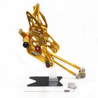 Full Adjustable Rearset Rear Sets Foot Pegs HONDA CBR 600RR 2003 2005 2006 gold
